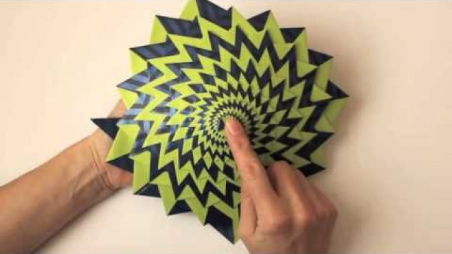 Origami Curlicue Kinetik Origami Yapm